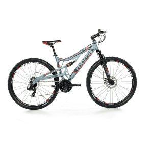 Bicicleta de montaña con doble amortiguación