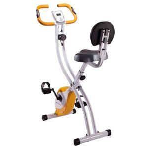 Bicicleta estática con sensores de pulso