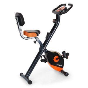 Bicicleta estática plegable naranja