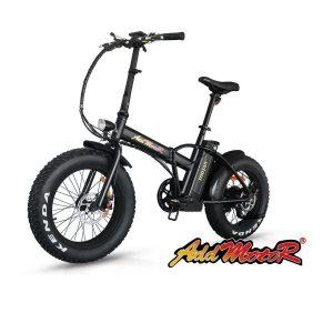 Bicicleta plegable con neumáticos gruesos