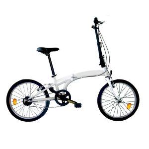 Bicicleta plegable Microbike blanca