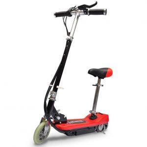 Patinete Scooter Rojo Eléctrico con Asiento