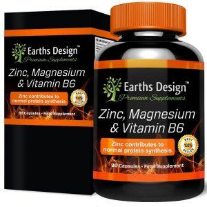Suplemento deportivo de Zinc y Magnesio con Vitamina B6