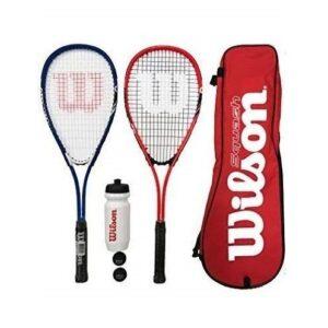 Raqueta squash estampada