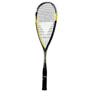 Raqueta squash multiaxial