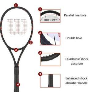 Raqueta de tenis de carbono y grafeno