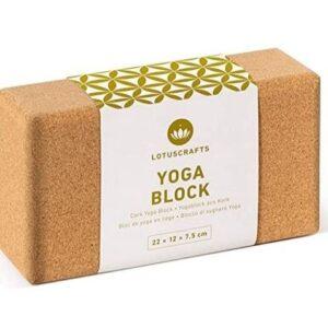 Bloque de yoga de corcho natural LostusCrafts