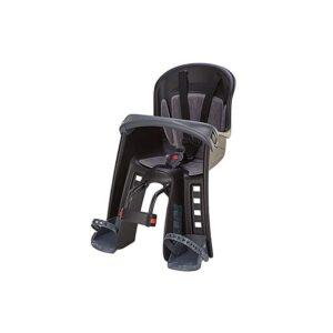 Silla portabebés para bicicleta con barra de seguridad