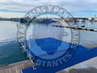 Para qué sirven las plataformas flotantes en eventos deportivos acuáticos