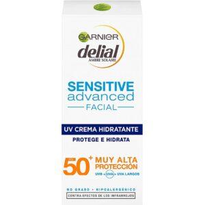 Crema solar facial para hacer deporte Delial