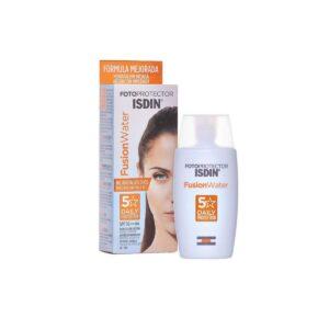 Crema solar facial para hacer deporte Isdin